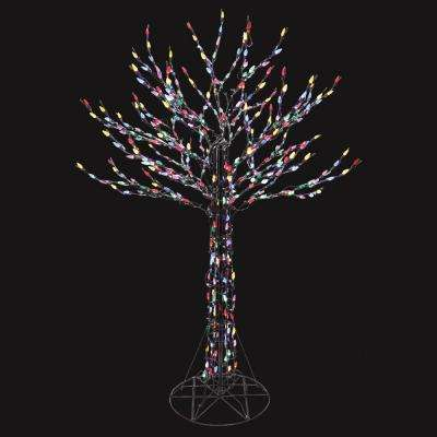 Yard stake christmas decorations holiday decorations the home led deciduous tree sculpture with multi color lights home accents holiday mozeypictures Gallery
