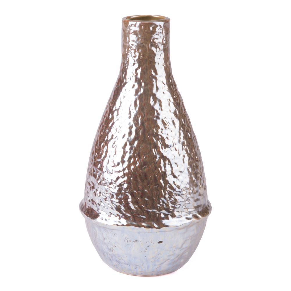 Pearl Yellow Textured Medium Decorative Vase
