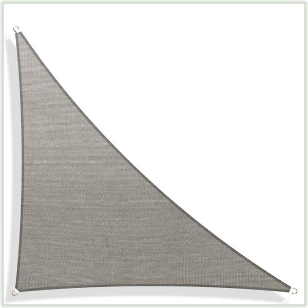 33.9 ft. x 24 ft. x 24 ft. 190 GSM Grey Right Triangle Sun Shade Sail Screen Canopy, Outdoor Patio and Pergola Cover