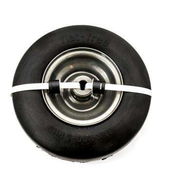 11 in. x 4 in. Universal Flat Free Wheel Assembly