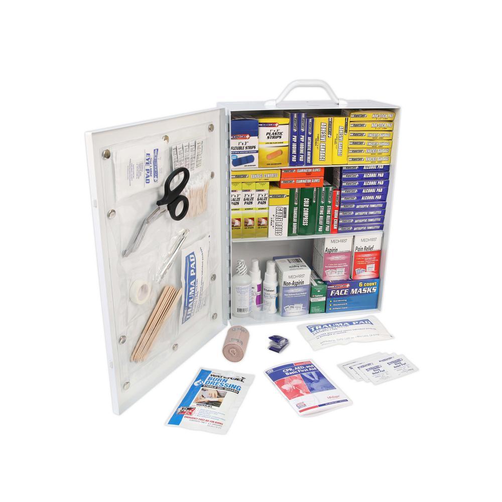 800-Piece 3 Shelf OSHA/ANSI First Aid Cabinet