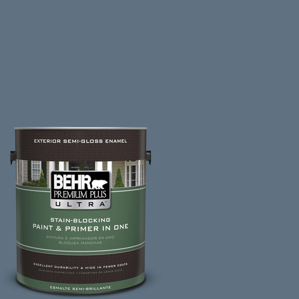 1-gal. #560F-6 Windsor Haze Semi-Gloss Enamel Exterior Paint