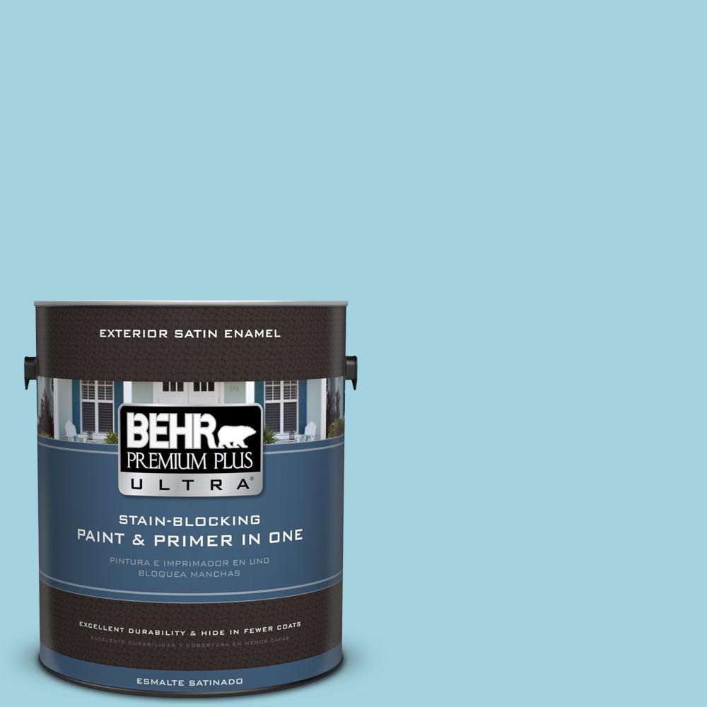 BEHR Premium Plus Ultra 1-gal. #M470-3 Midwinter Mist Satin Enamel Exterior Paint