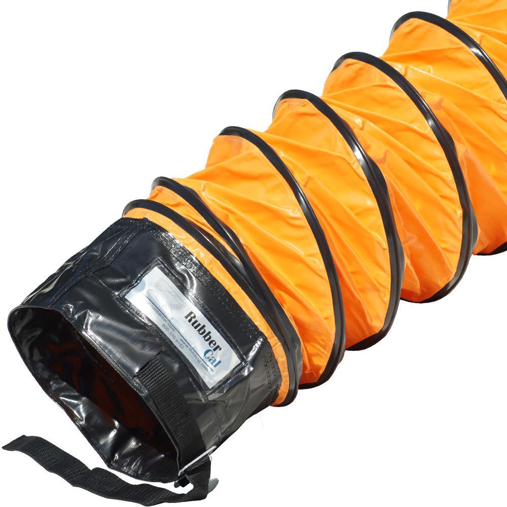 6 in. D x 25 ft. Air Ventilator Orange Coil - Flexible Ducting - Orange