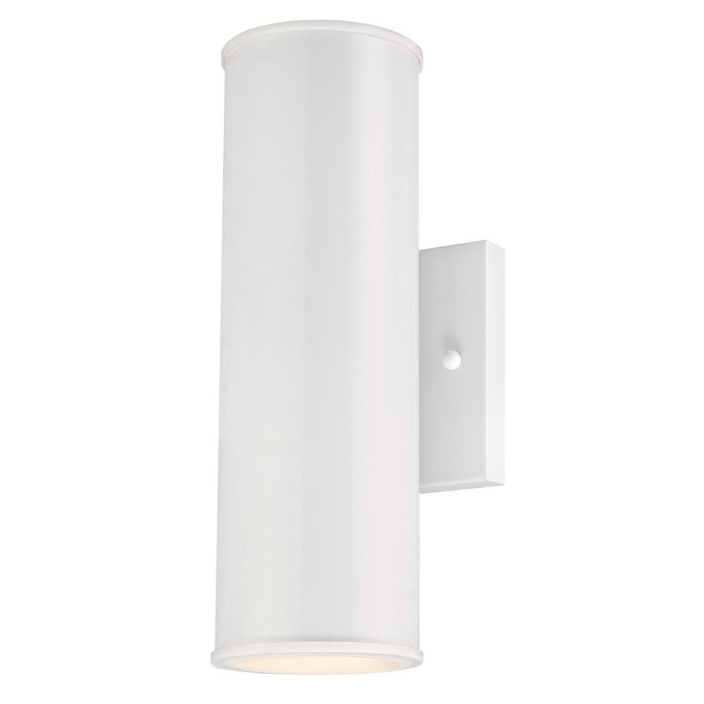 Westinghouse Mayslick 2 Light White Integrated Led Outdoor Wall Lantern Sconce
