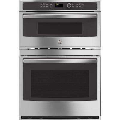 Profile 30 in. Built-In Electric Convection Wall Oven Self-Cleaning with Built-In Microwave in Stainless Steel