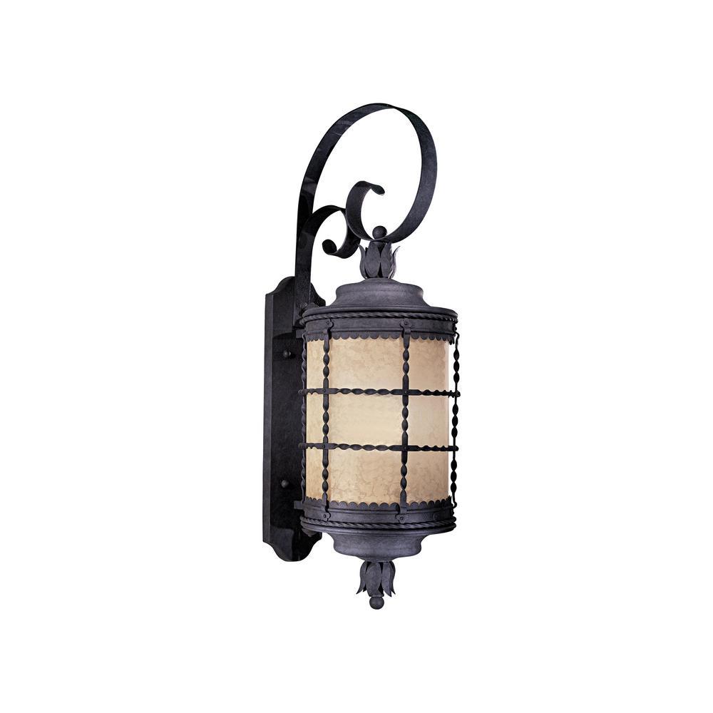 Mallorca 1-Light Spanish Iron Outdoor Wall Lantern Sconce