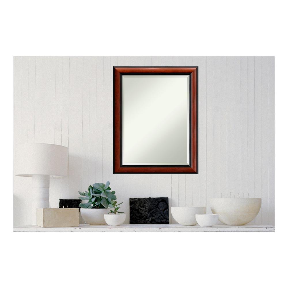 Regency Mahogany Wood 22 in. x 28 in. Traditional Framed Decorative Wall Mirror