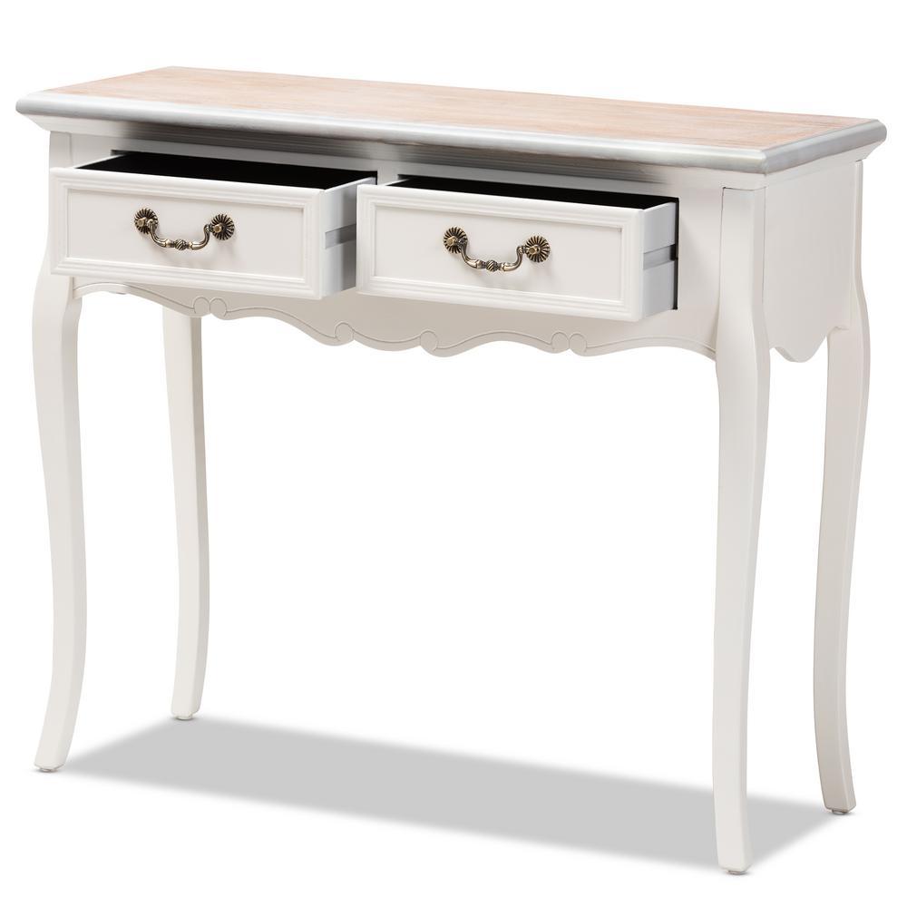 Sensational Baxton Studio Capucine 2 Drawer White Console Table 151 9207 Spiritservingveterans Wood Chair Design Ideas Spiritservingveteransorg