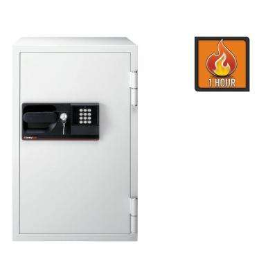 3 cu. ft. Steel Commercial Fire-Safe with Electronic Lock and key, Gray
