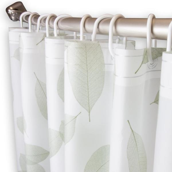 Rod Desyne 71 in. x 71 in. Falling Leaves Shower Curtain