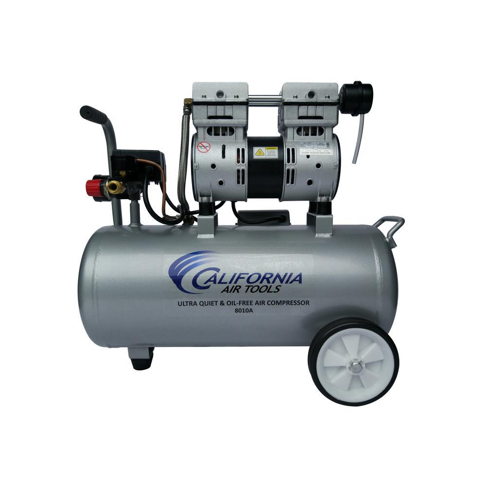California Air Tools 8.0 Gal. 1.0 HP Aluminum Air Tank Ultra-Quiet and Oil-Free Portable Electric Lightweight Air Compressor