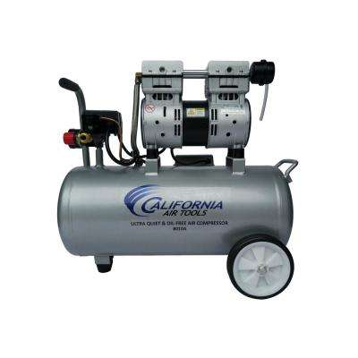 8.0 Gal. 1.0 HP Aluminum Air Tank Ultra-Quiet and Oil-Free Portable Electric Lightweight Air Compressor