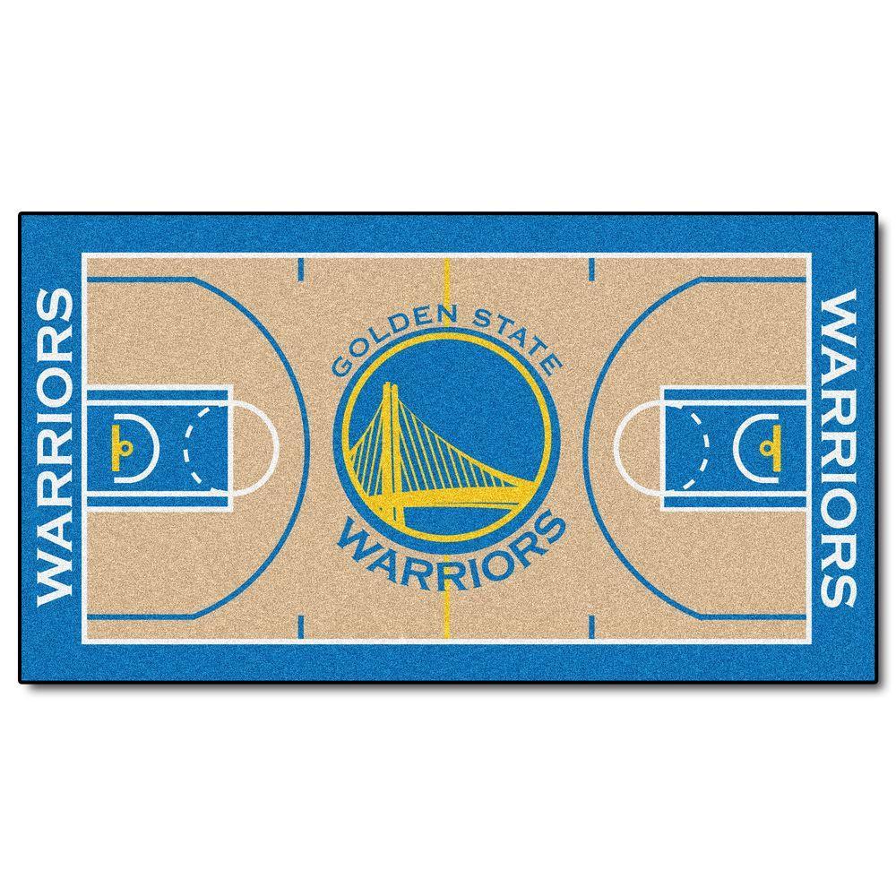 Fanmats Golden State Warriors 2 Ft X 4 Ft Nba Court