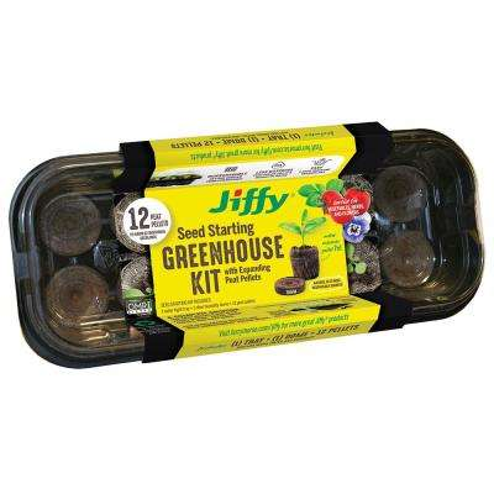 12 Peat Pellet Seed Starting Greenhouse Kit