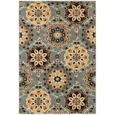 Grace Blue 7 ft. 9 in. x 9 ft. 5 in. Plush Indoor Area Rug
