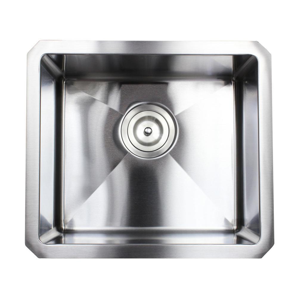 Undermount 16-Gauge Stainless Steel 17 in. x 15 in. x 9 in. Single Bowl Kitchen Sink