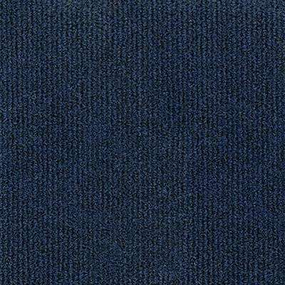 Design Smart Ocean Blue Rib Texture 18 in. x 18 in. Indoor/Outdoor Carpet Tile (10 Tiles/22.5 sq. ft./case)
