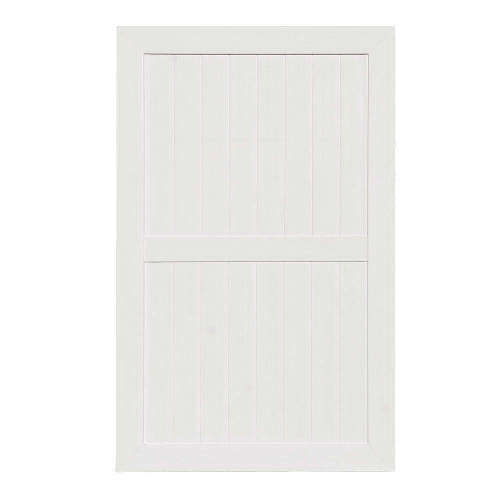 Veranda Pro Series 5 ft. W x 8 ft. H White Vinyl Hayward Privacy Fence Gate