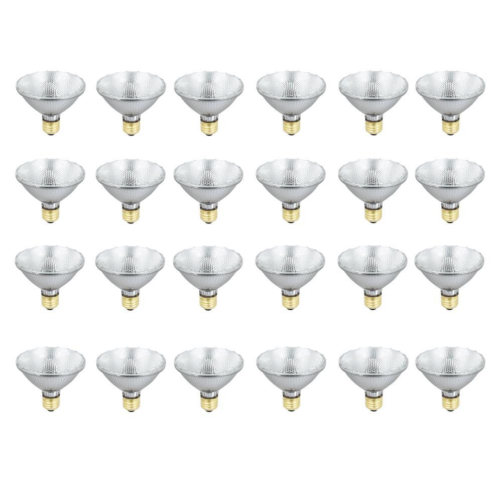 55-Watt Warm White (3000K) PAR30S Dimmable Energy Saver Halogen Flood Light Bulb (24-Pack)