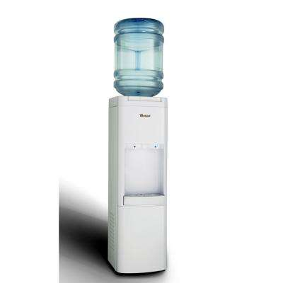 Commercial Water Cooler with Ice Chilled Water in White
