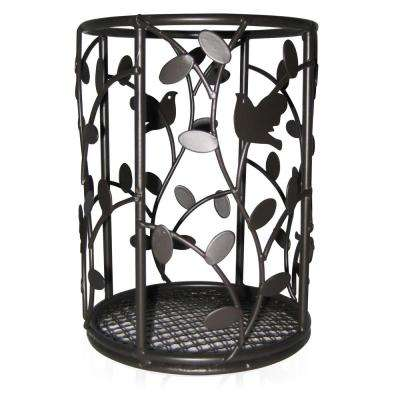 6 in. x 4.5 in. Bird and Flower Cutlery Holder