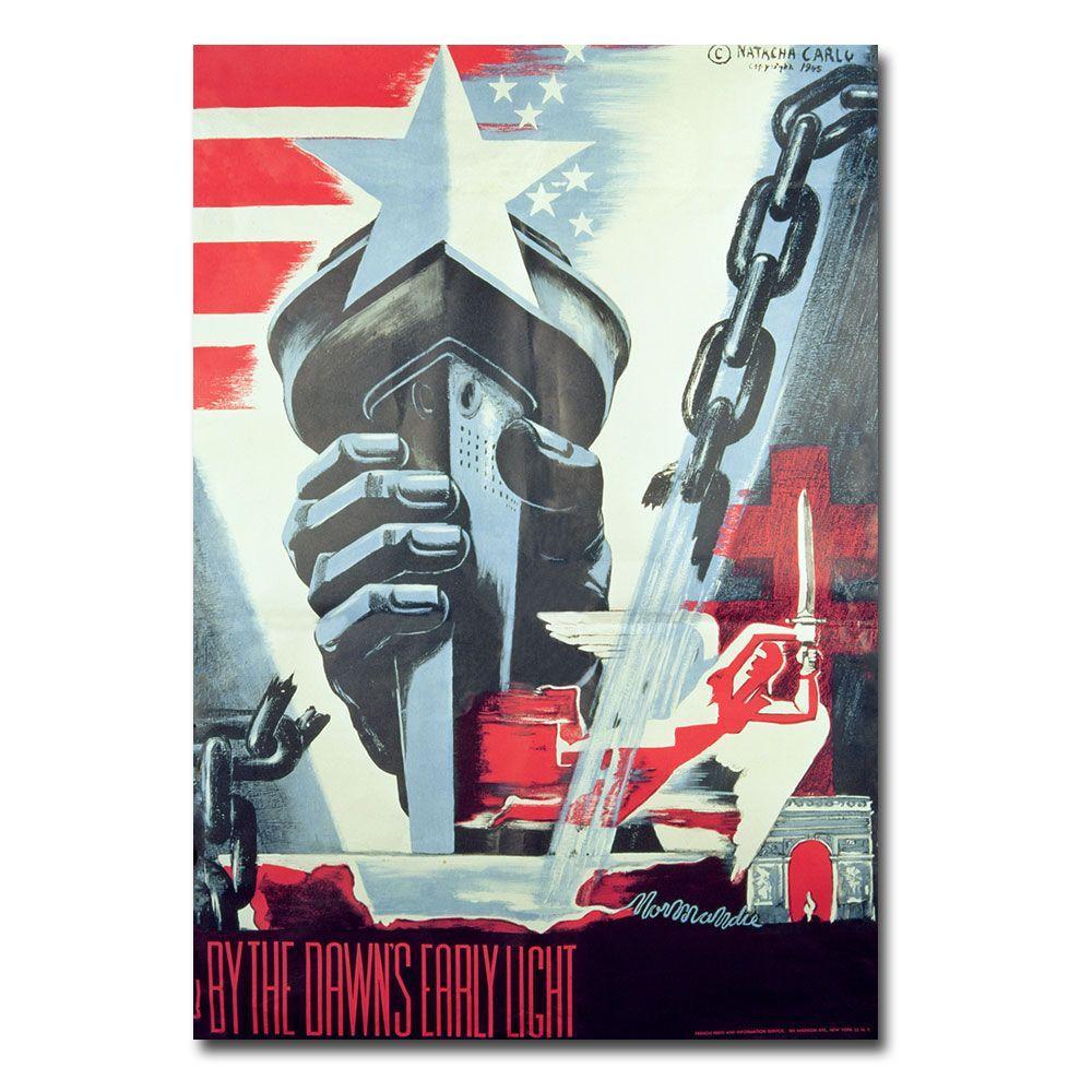 Trademark Fine Art 22 in. x 32 in. By the Dawns Early Light 1945 Canvas Art