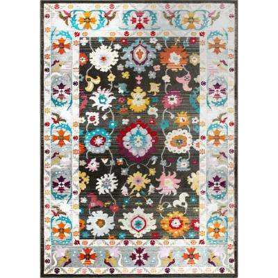 Melody Kaylyn Charcoal 7 ft. 10 in. x 10 ft. 2 in. Indoor Area Rug