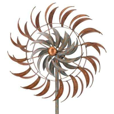 24 in. Rotating Kinetic Stake - Copper Petals