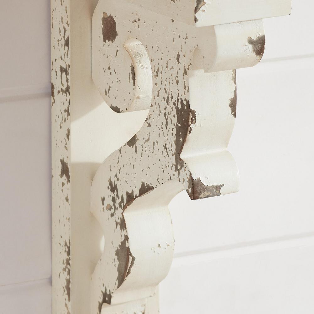 CinMin 10.5 Inch Handcarved Corbel Wood Wall Bracket//Floating Shelf Burgundy Antique White