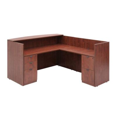 Magons Cherry Double Full Pedestal Reception Desk