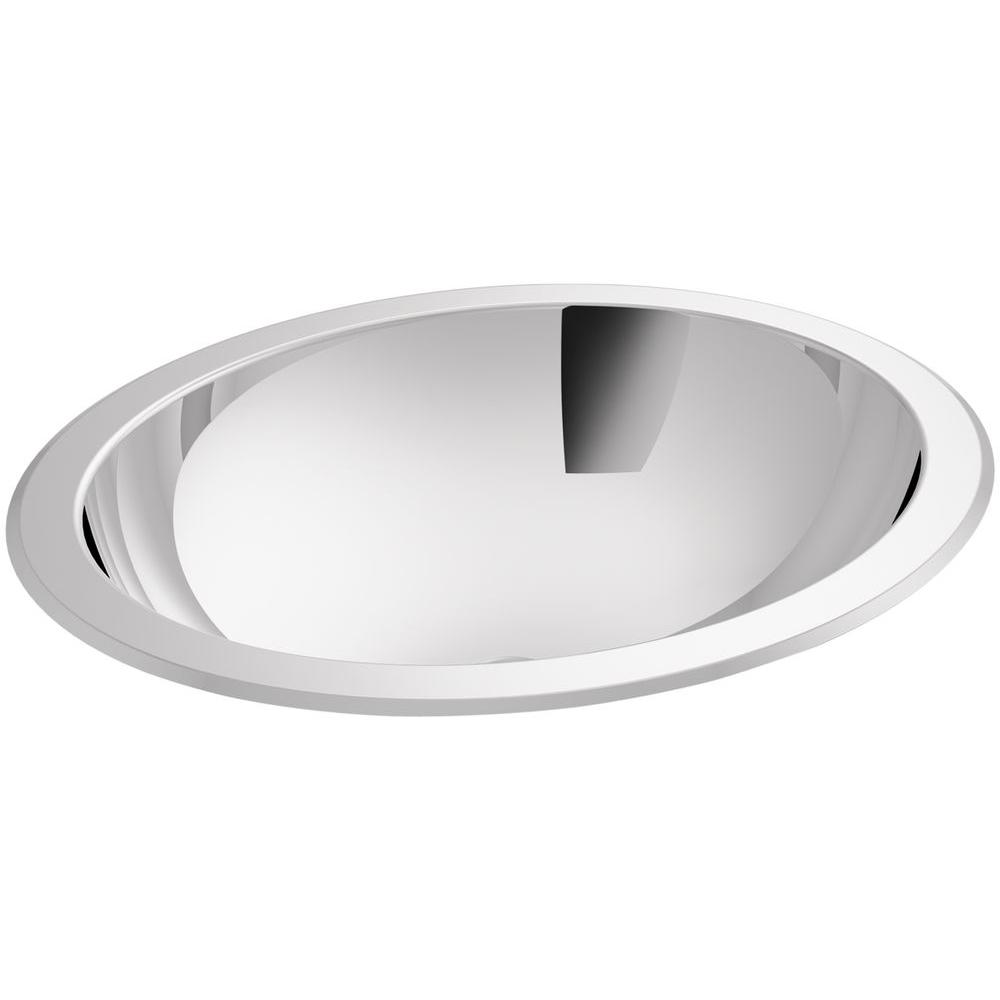 Kohler Bachata Undermount Stainless Steel Bathroom Sink In Stainless Steel With Mirror K 2608 Mu