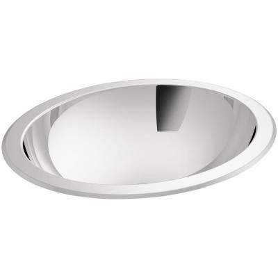 Bachata Undermount Stainless Steel Bathroom Sink in Stainless Steel with Mirror