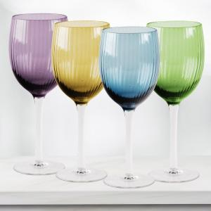 HOME ESSENTIALS & BEYOND Jewel 4-Piece Assorted White Wine Glasses by HOME ESSENTIALS & BEYOND