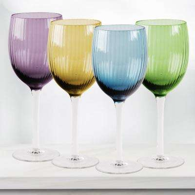 Jewel 4-Piece Assorted White Wine Glasses