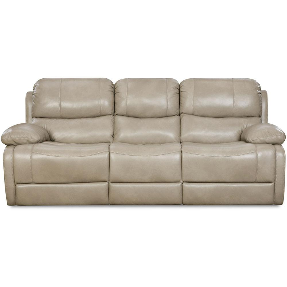 Austin Leather Putty Double Reclining Sofa