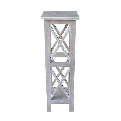 Weathered Taupe Gray Solid Wood 36 In X Sided Plant Stand