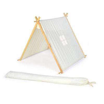 3.5 ft. Canvas A-Frame Teepee Playset Playhouse With Carry Case