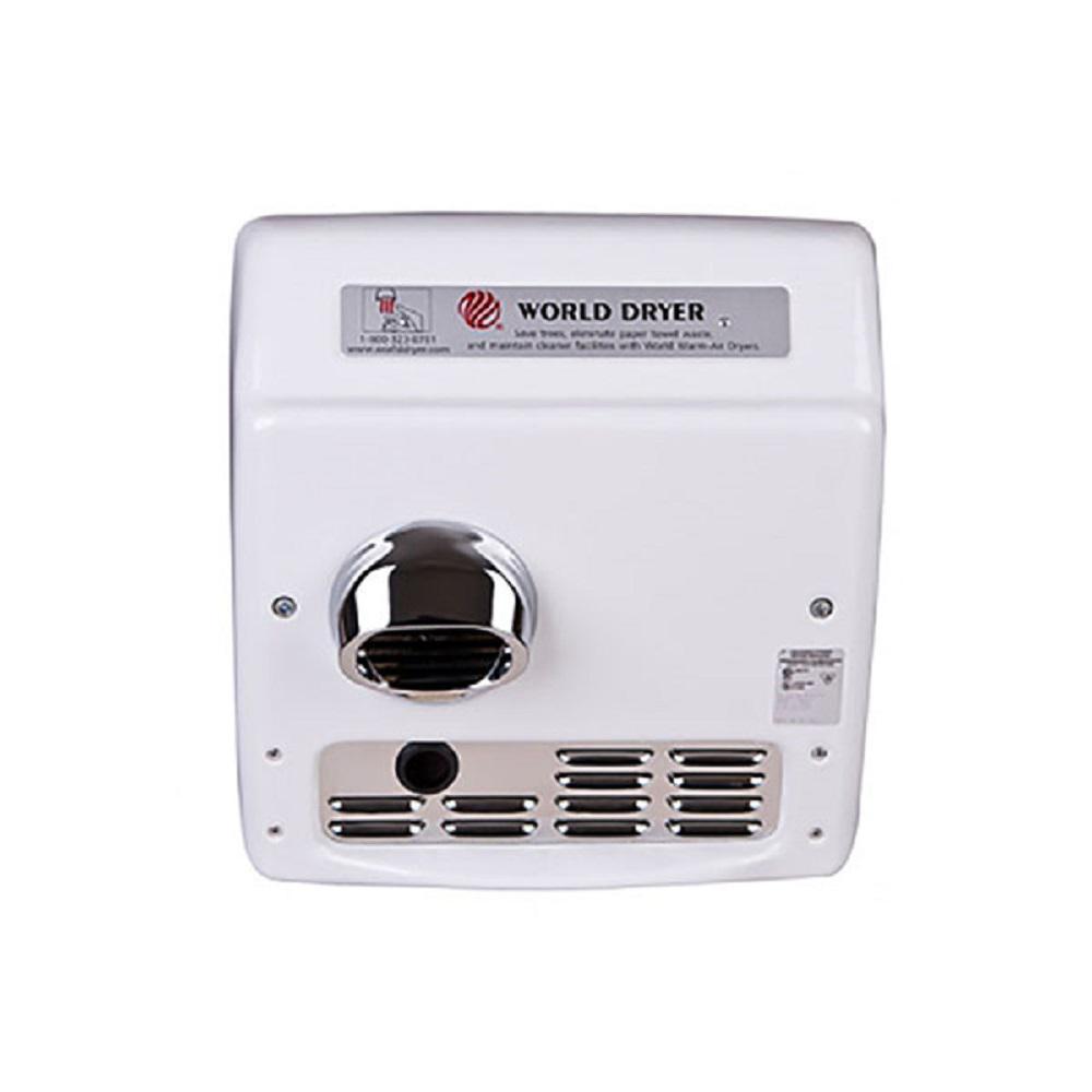 Model A Recessed Automatic Hand Dryer Long Motor Life 115-Volt (20 Amp) Cast Iron/White Porcelain Enamel