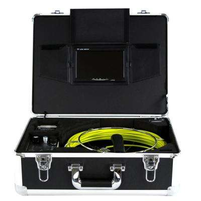 Video Snake Pipe and Wall Inspection System 65 ft. Complete Color Camera System