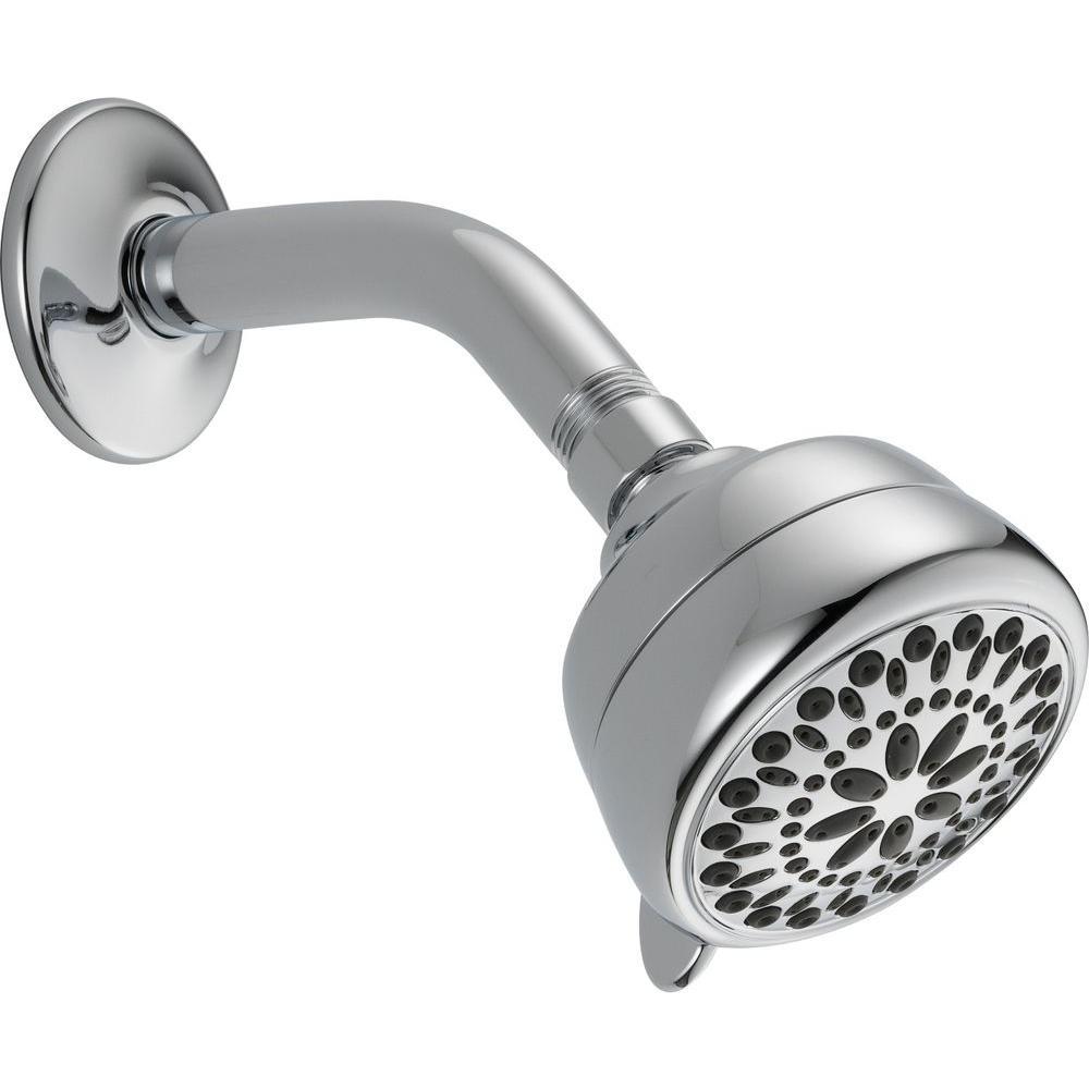 Delta 7 Spray 2 5 GPM Massage Shower Head In Chrome 75760