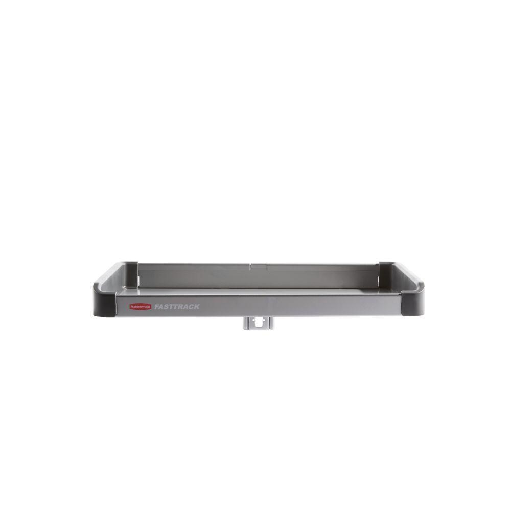 Rubbermaid FastTrack Garage 15.3 in. W x 9.4 in. D Small Metal Shelf