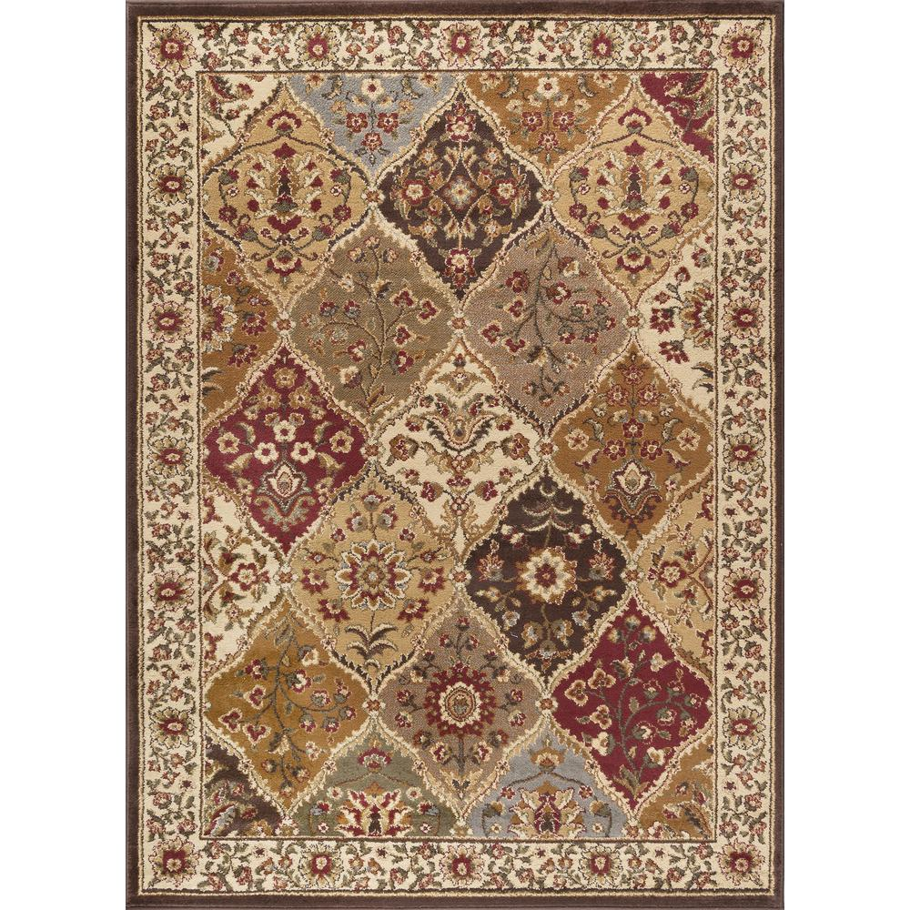 Tayse Rugs Elegance Multi 7 ft. 6 in. x 9 ft. 10 in. Traditional Area Rug