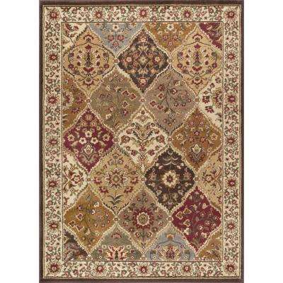 Elegance Multi 7 ft. 6 in. x 9 ft. 10 in. Traditional Area Rug
