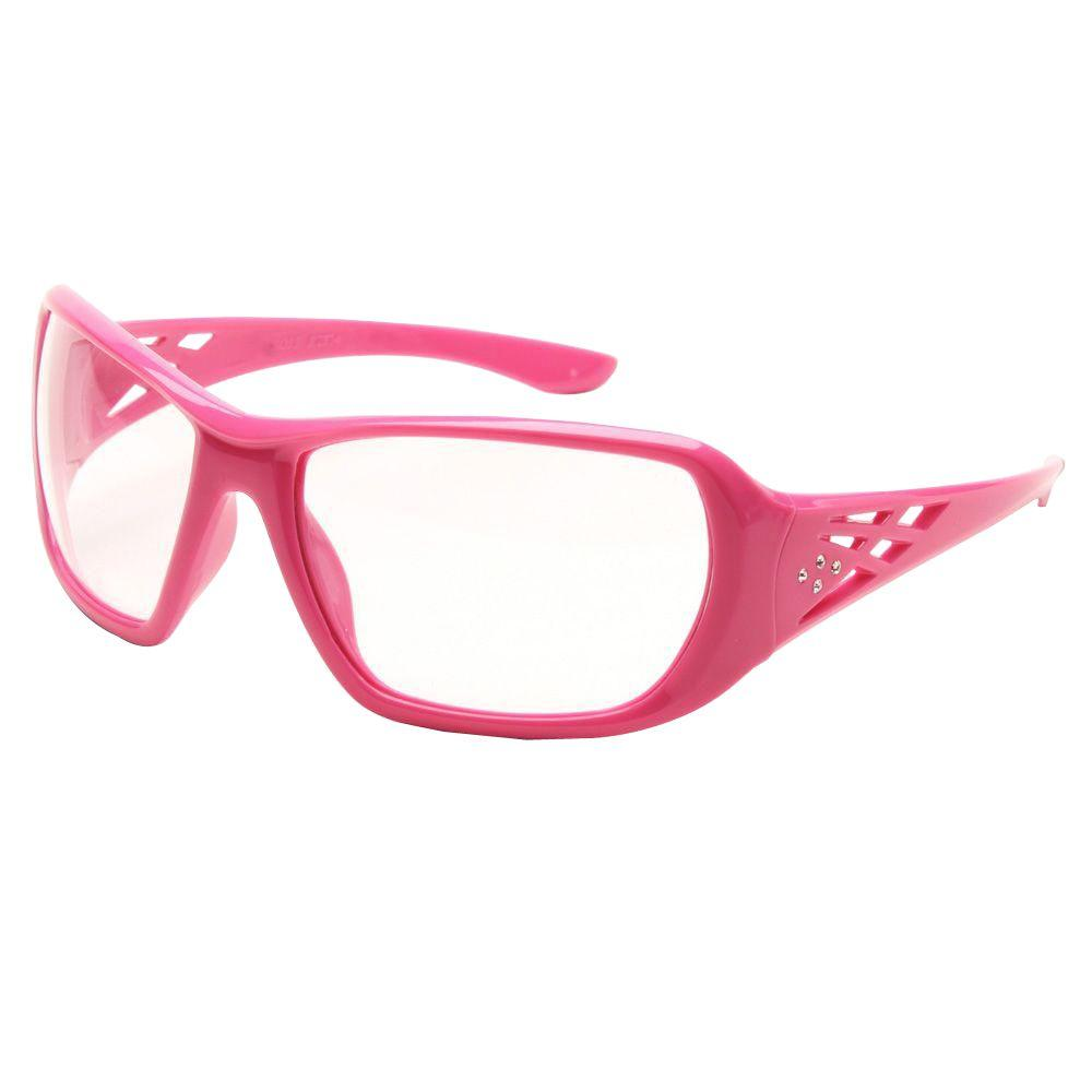 Girl Power At Work Rose Ladies Eye Protection, Pink Frame/Clear Lens