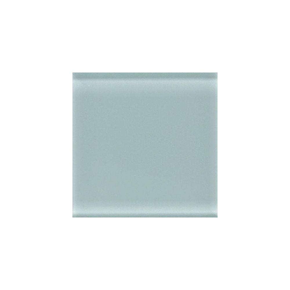 Circa Glass Spring Green 4-1/4 in. x 4-1/4 in. Glass Wall