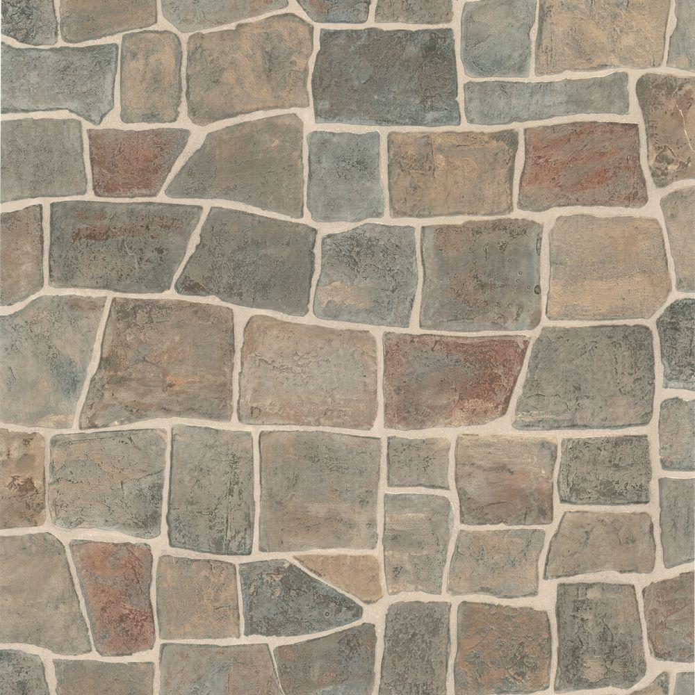 Flagstone Grey Slate Path Wallpaper