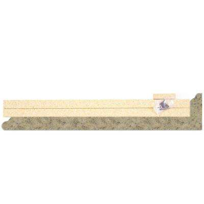 4-5/8 in. x 25-5/8 in. Laminate Endcap Kit in Golden Juparana with Valencia Edge
