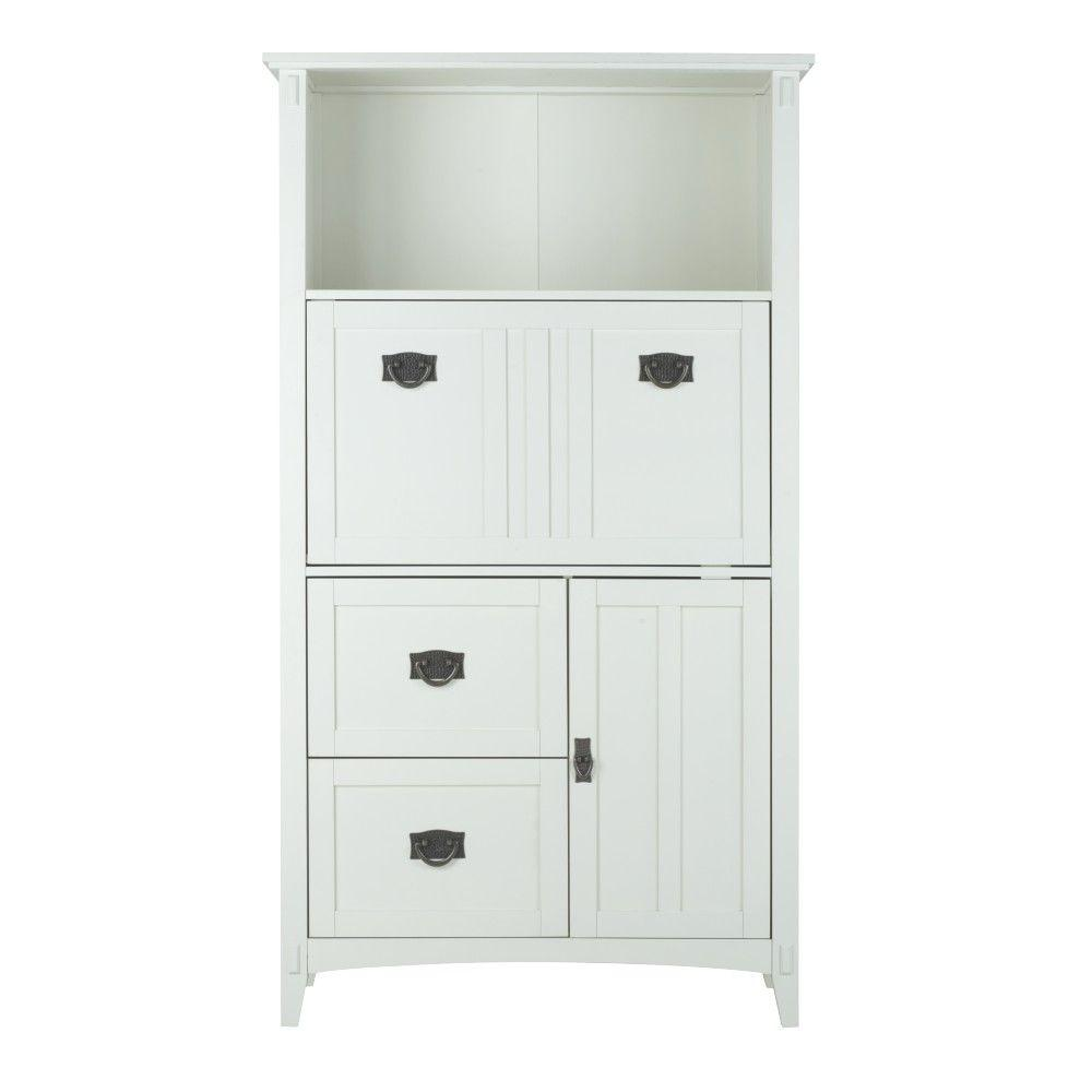 Home Decorators Collection Artisan White Secretary Desk With Storage