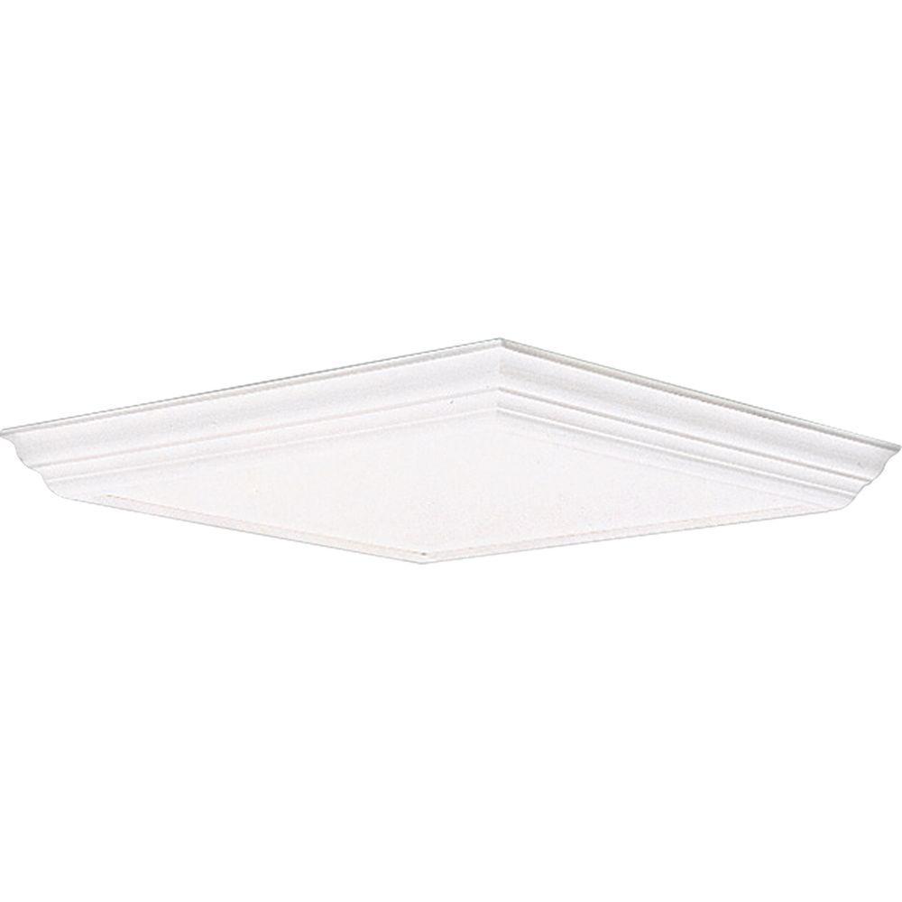 Progress Lighting White Fluorescent Fixture Diffuser-P7273